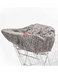 Take Cover Shopping Cart Cover - Grey Feather