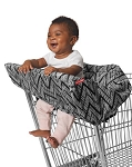 Take Cover Shopping Cart Cover - Zig Zag Zebra