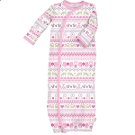 Magnificent Baby Gown - Fair Isle Pink