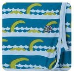 Kickee Pants Swaddling Blanket - Sea Monster