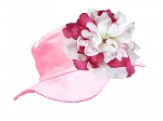 Pale Pink Sun Hat with White Raspberry Peony