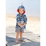 Mud Pie Blue Camo Shark Cover Up