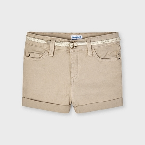 Mayoral Camel Shorts with Belt