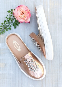 Joyfolie Sia Slide - Rose Gold