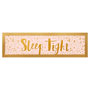 Metallic Framed Art - Sleep Tight