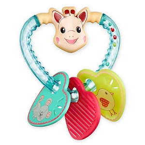 Sophie the Giraffe Heart Rattle