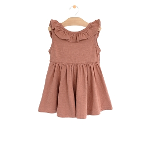 PNW Baby Flutter V Back Dress - Clay
