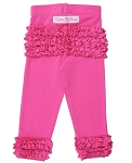 RuffleButts Ruffle Leggings - Candy Pink