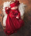 Haute Baby Ruby Sparkle Gown