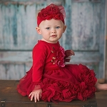 Haute Baby Ruby Sparkle Dress Set