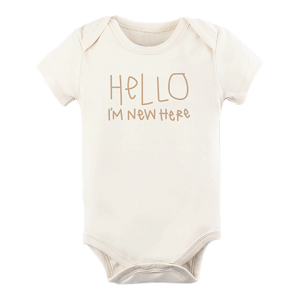Hello I'm New Here Short Sleeve Clay Onesie