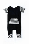 The Romper II - Black Stripe