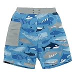 Iplay Swim Trunks with Built In Diaper - Blue Whale League