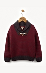 Hatley Maroon Toggle Sweater