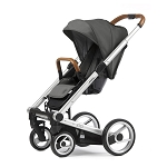 Mutsy Igo Urban Nomad - Silver Chassis with Brown Handle & Dark Grey Seat
