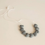 Amore Teething Necklace - Slate