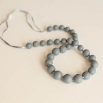 Classic Teething Necklace - Slate