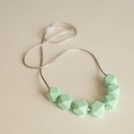 Geo Teething Necklace - Mint