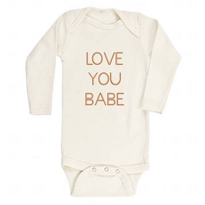 Love You Babe Organic Long Sleeve Onesie