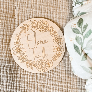 Floral Circle Personalized Disc