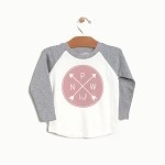 PNW Kid Logo Raglan - Rose