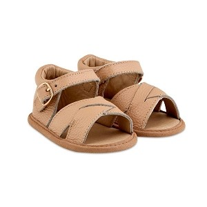 Tan Split-Soled Leather Baby Sandals