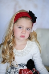 Giggle Moon Pure Gold Knit Headband - Red