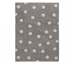 Lorena Canals Polka Dots Grey Rug - White