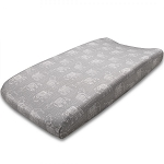 Liz and Roo Contoured Changing Pad Cover - Tribal Elephant