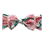 Trimmed Printed Knot - Watercolor Floral