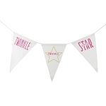 Twinkle Twinkle Little Star Canvas Banner - Pink & Gold