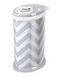 Ubbi Diaper Pail - Gray Chevron