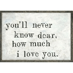 You'll Never Know Framed Art Print