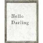 Hello Darling Framed Art Print