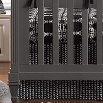 Liz and Roo Crib Skirt - Vine