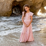 Joyfolie Viola Dress in Blush