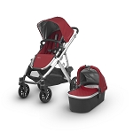 2018 UPPAbaby Vista - Denny (Red/Silver/Black Leather)