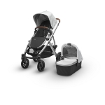 2018 UPPAbaby Vista - Loic (White/Silver/Leather)