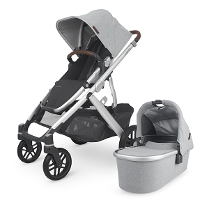 2020 VISTA V2 Stroller - STELLA  (grey brushed mélange/silver/chestnut leather)