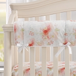 Liz and Roo Crib Rail Cover - Watercolor Floral