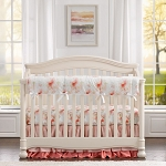 Liz and Roo Pink Watercolor Floral Crib Bedding Set