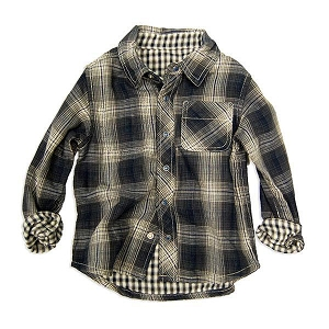 Reversible Button Up Shirt - Charcoal