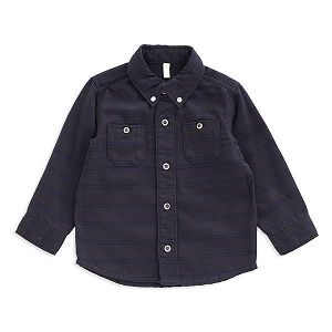 Flannel Button Up Shirt - Charcoal