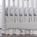 Liz and Roo Ruffled Crib Skirt - White Woven