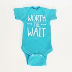 Worth the Wait Onesie - Teal