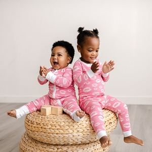 Pink Kisses Baby & Toddler Bamboo Viscose Zippy