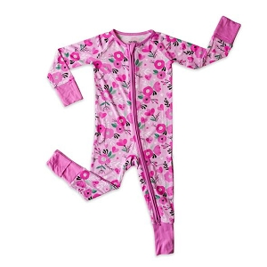 Sweetheart Floral Baby & Toddler Bamboo Viscose Zippy