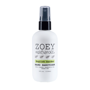Zoey Natural Hand Sanitizer- English Garden
