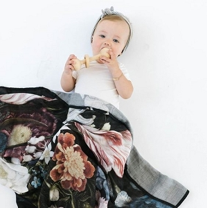Luxe Bamboo Muslin Swaddle - Tuscan Floral