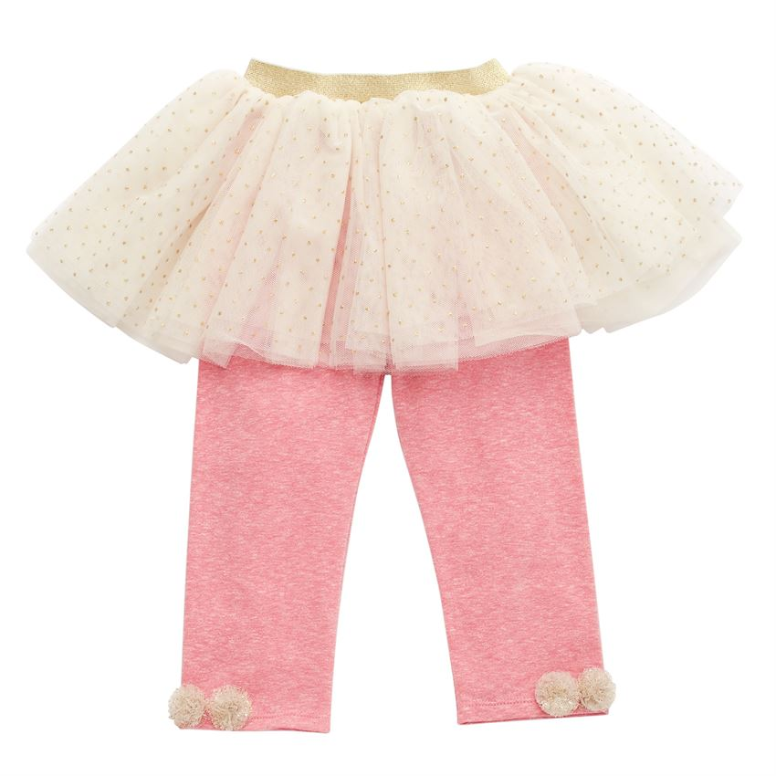 Cream Tutu Leggings